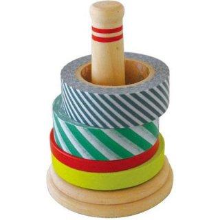 和風 マスキングテープ ホルダー 【遊び文具】 輪投げテープ入れ