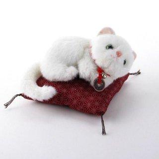 【和柄ぬいぐるみ】【猫のお人形】 玉之丞ぬいぐるみ 茜柄