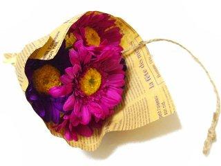 【ギフト造花】 ガーベラの花々 ラッピングブーケ -花のある暮らしに-