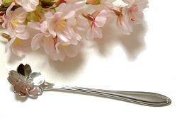 【さくらのプチギフトに最適】【日本製】桜花スプーン