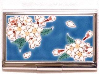 【九谷焼】名刺入れ 桜  KUTANI CARD-CASE