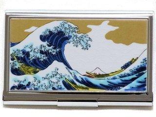 【九谷焼】名刺入れ 波  KUTANI CARD-CASE