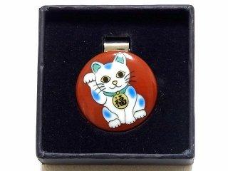 【九谷焼】ゴルフマーカー メタルクリップ付  KUTANI LUCKY GOLF MARKER 招き猫