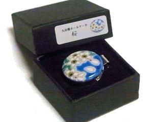 【九谷焼】ゴルフマーカー メタルクリップ付  KUTANI LUCKY GOLF MARKER 桜