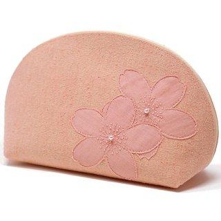 桜染め ポーチ ピンク