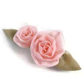 桜染め 2つバラバレッタ 桜ピンク