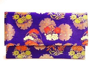 【金襴の和小物】【花楽堂オリジナル手作り札入れ】 金襴 札入れ財布とコースターのセット 31
