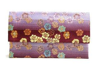 【金襴の和小物】【花楽堂オリジナル手作り札入れ】 金襴 札入れ財布とコースターのセット 28