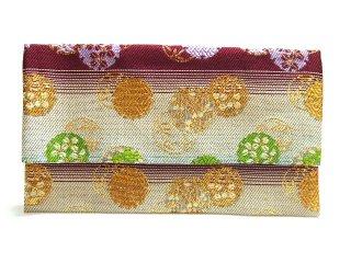 【金襴の和小物】【花楽堂オリジナル手作り札入れ】 金襴 札入れ財布とコースターのセット 27