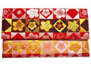 【金襴の和小物】【花楽堂オリジナル手作り札入れ】 金襴 札入れ財布とコースターのセット 19