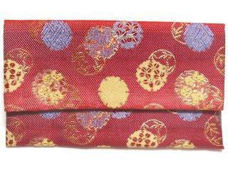 【金襴の和小物】【花楽堂オリジナル手作り札入れ】 金襴 札入れ財布とコースターのセット 11