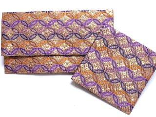 【金襴の和小物】【花楽堂オリジナル手作り札入れ】 金襴 札入れ財布とコースターのセット 7