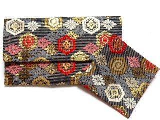 【金襴の和小物】【花楽堂オリジナル手作り札入れ】 金襴 札入れ財布とコースターのセット 6