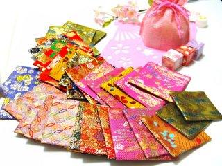 【金襴のハンドメイド和小物】  金襴 和柄 コースター 呉服屋おばあちゃんの手作り和小物(柄おまかせ)