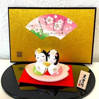 【桜のおひなさま】 睦さくら雛 花びら飾り