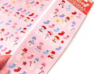 【クリスマスのシール】 クリスマスステッカー シール 2枚セット