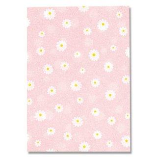 小花柄紙袋 ピンク