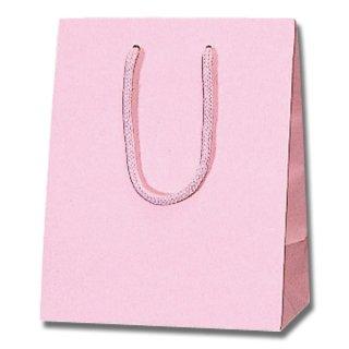ピンク 紙袋 プレーンチャームバッグ(25×20×12)
