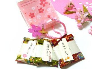【桜ギフトバッグ入り】 京のお茶漬けプチギフト 3種類セット さくらキューブバッグ入り(桜タップつき)