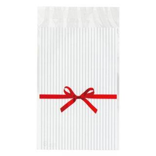 贈り物に! リボン柄 テープ付きOPPバッグ