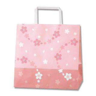 さくら柄 リーズナブル手提げ袋 舞桜 中(25.5×22×13)*紙袋のみでの販売不可です*