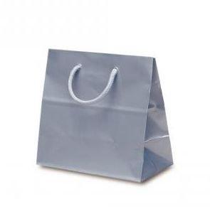 ギフト紙袋 コーティングバッグ シルバー (16.5×16×9)  *紙袋のみでの販売不可です*