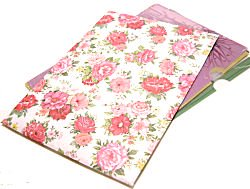 バラ柄紙袋 (A4)