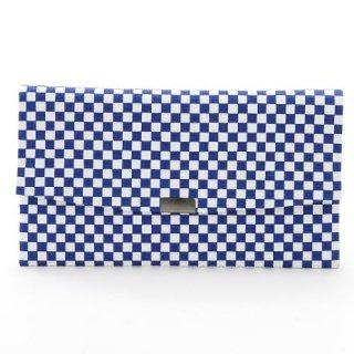 和紙工芸品 市松模様 縮み財布