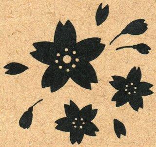 【桜のはんこ】桜のオリジナルスタンプ・ベタ桜 ハンコ