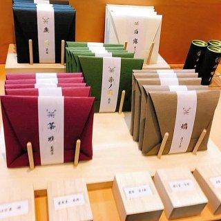【京都の宇治茶ギフト】福籠 折形(紅色) 玄米茶 -茶珠-