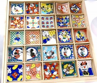 【九谷焼】色絵箸置き ミッキーマウス&フレンズ 箸置コレクション 25種類 木箱入りギフトセット