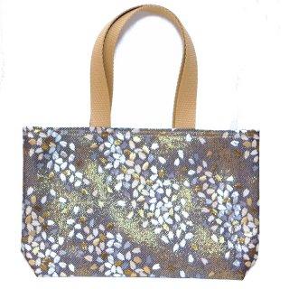 【メール便送料無料!】【金襴のバッグ】【花楽堂オリジナル】金襴 和柄 花柄トートバッグ 4 桜 シルバー