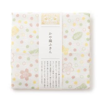 【桜の布小物】 かや織ふきん おいり