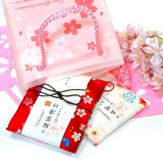 【季節限定】【桜ギフトバッグ入り】 京の桜茶漬けと桜お吸い物プチギフトセット さくらキューブバッグ入り