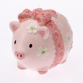 【桜ピンクのブタさん!】さくら柄ブタの貯金箱★桜ピッグバンク