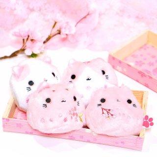 【桜のぬいぐるみ】ねこだんご 猫だんご さくら 4種ギフトセット 桜のバンブーボックス入り