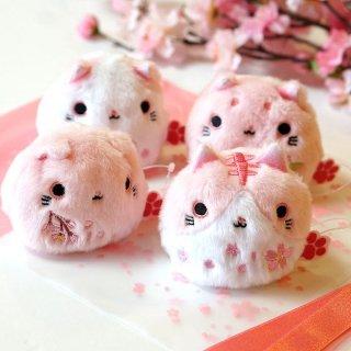 【桜のぬいぐるみ】ねこだんご 猫だんご さくら 4種ギフトセット 桜リボン袋ラッピングつき
