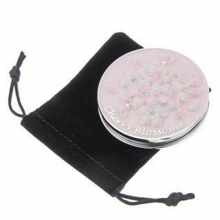 【さくらの鏡】 桜メタル コンパクトミラー 丸形