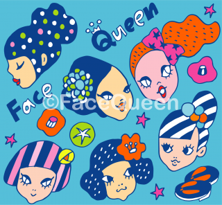 Kimonoガールズ ファブリックBlue<br>50cm × 50cm〜<br><img class='new_mark_img2' src='//img.shop-pro.jp/img/new/icons2.gif' style='border:none;display:inline;margin:0px;padding:0px;width:auto;' />