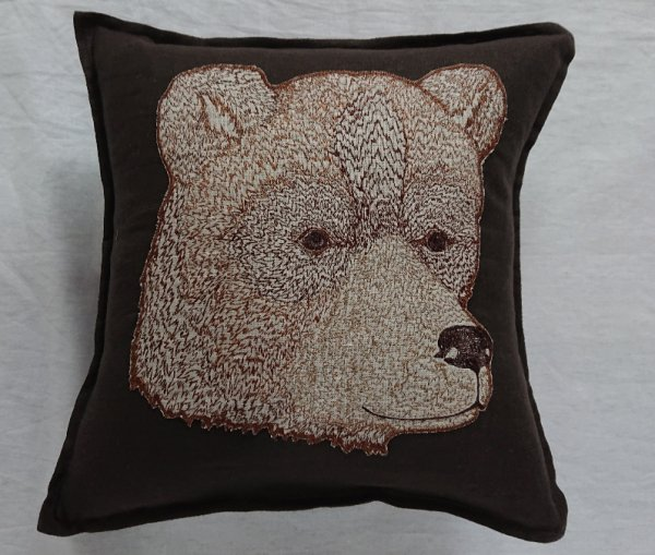 CORAL&TUSK APPLIQUE PILLOWS Bear Applique