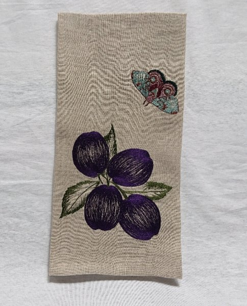 CORAL&TUSK TEA TOWELS Plums&Butterfly