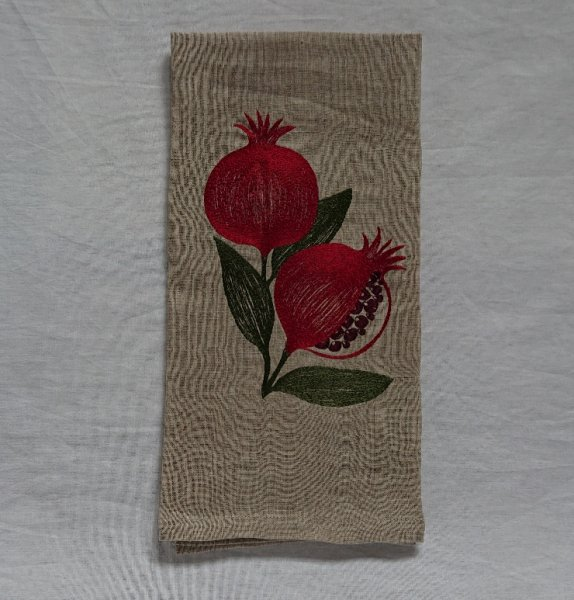 CORAL&TUSK TEA TOWELS Pomegranate