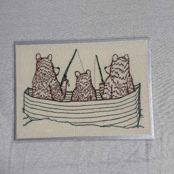 CORAL&TUSK  Bear Family Fishing Card