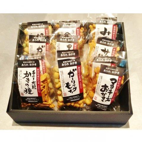 加藤製菓 新潟米あられおかき<br>【12袋詰合せ】
