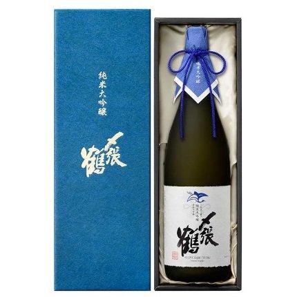 〆張鶴 純米大吟醸 BLUE LABEL 袋取り雫酒≪化粧箱入り≫<br>【1800ml】