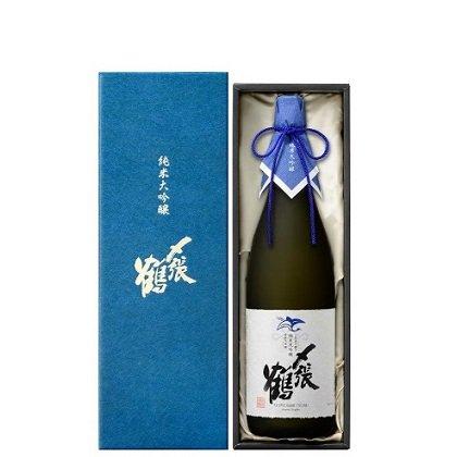 〆張鶴 純米大吟醸 BLUE LABEL 袋取り雫酒≪化粧箱入り≫<br>【720ml】