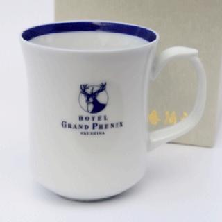 香蘭社製オリジナルマグカップ青