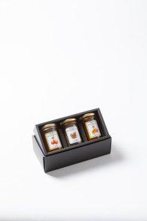 ホテルオリジナルはちみつジャム3個セット(小布施栗ジャム入り) : ギフト プレゼント 贈り物 内祝 手土産 お歳暮