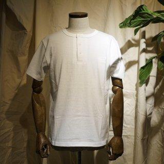 【RIDING HIGH】吊り編みヘンリーネックTシャツ/ホワイト