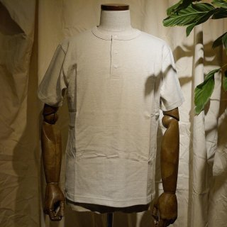 【RIDING HIGH】吊り編みヘンリーネックTシャツ/オートミール